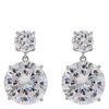 Snö Of Sweden Duo Pendant Earring - Silver/Clear
