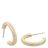 Snö Of Sweden Vertical Oval Earring – Gold/Clear
