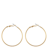 Snö Of Sweden Mystic Big Ring Earring Plain Gold 40mm
