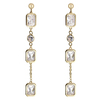 Snö Of Sweden Twice Long Earring – Gold/Clear