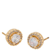 Snö Of Sweden Lou Round Stone Earring 9 mm – Gold/Clear