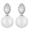 Snö of Sweden Gracie Small Short Earring – Silver/White