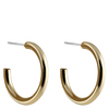 Snö Of Sweden Adara Oval Earring 26 mm – Plain Gold