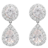 Snö Of Sweden Three Pendant Earring – Silver/Clear