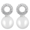 Snö of Sweden Gracie Small Pendant Earring – Silver/White