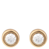 Snö Of Sweden Keira Small Stone Earring – Gold/Clear