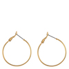 Snö Of Sweden Mystic Ring Earring Plain Gold 30mm