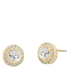 Snö Of Sweden Lissy Small Stone Earring – Gold/Clear