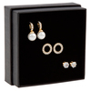 Snö of Sweden Gift Box Set Astrid Earring Gold/Clear