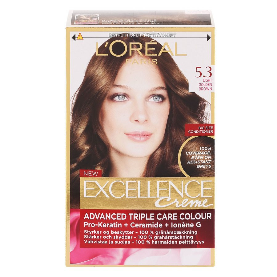 L'Oréal Paris Excellence Creme - 5,3 Light Golden Brown