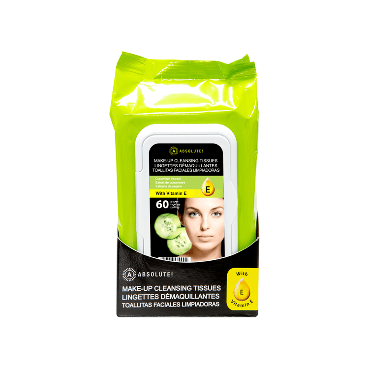 Absolute New York Make-Up Cleansing Tissues Cucumber Extract 60kpl