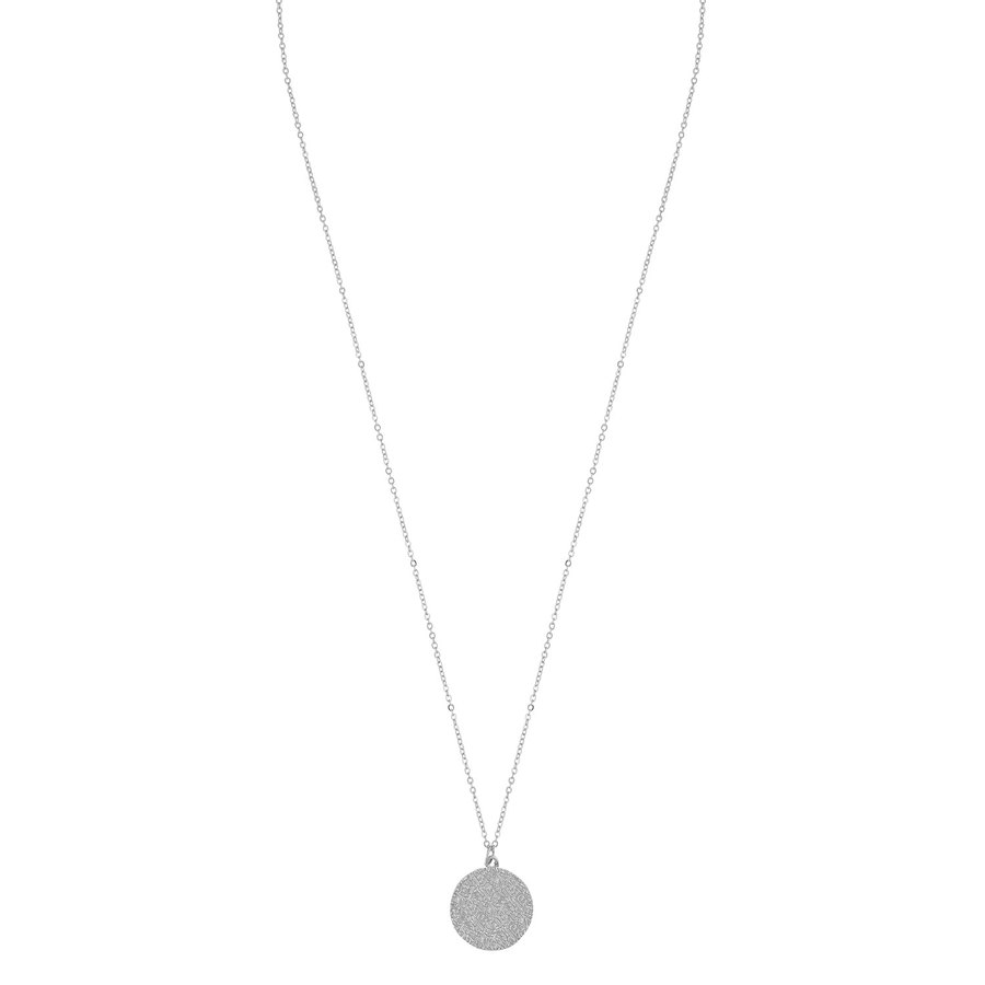 Snö of Sweden Penny Coin Pendant Necklace 60 cm – Plain Silver