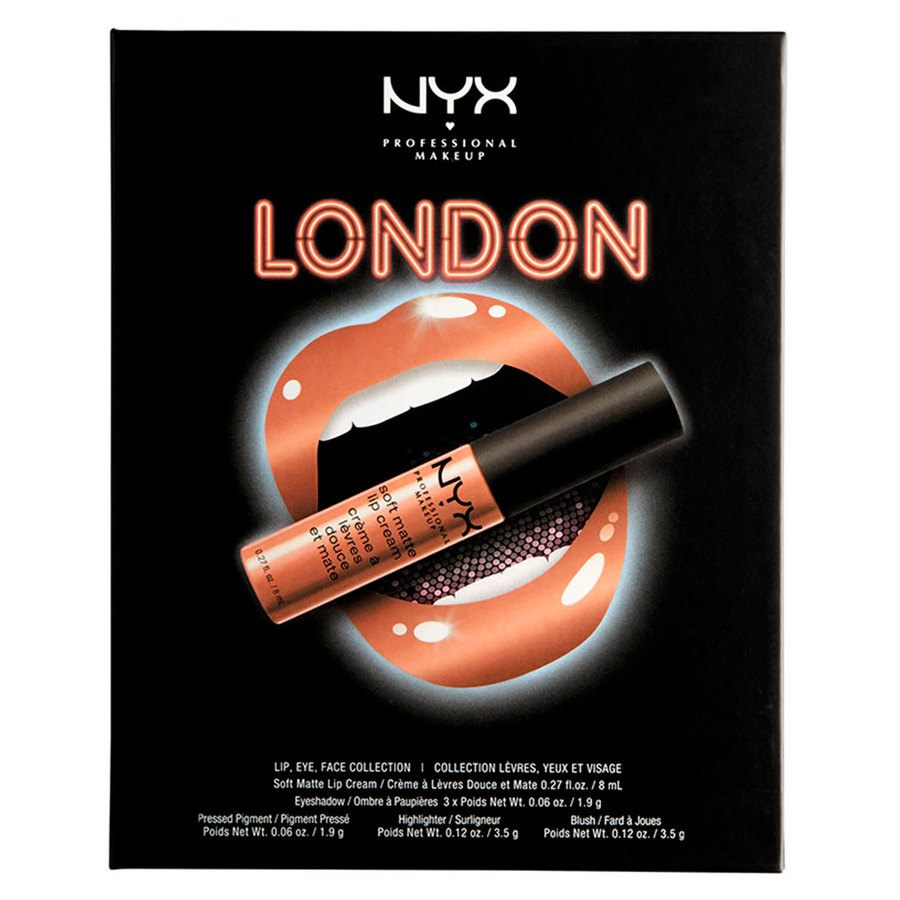 NYX Professional Makeup City Set Lip, Eye & Face Collection - London