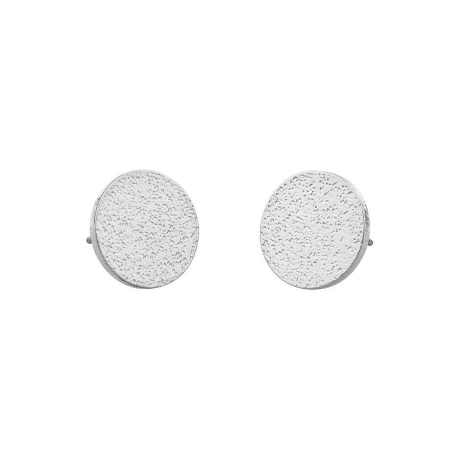 Snö of Sweden Lynx Small Coin Earring - Plain Silver
