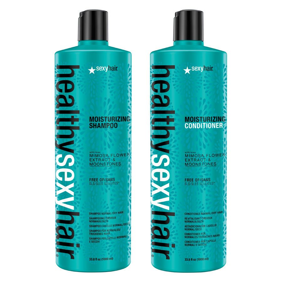 Healthy Sexy Hair Color Safe Moisturizing Shampoo & Conditioner 2 x 1000ml (Duo)