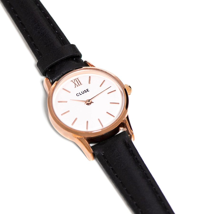 CLUSE La Vedette Rose Gold / Black 24 mm – CL50008