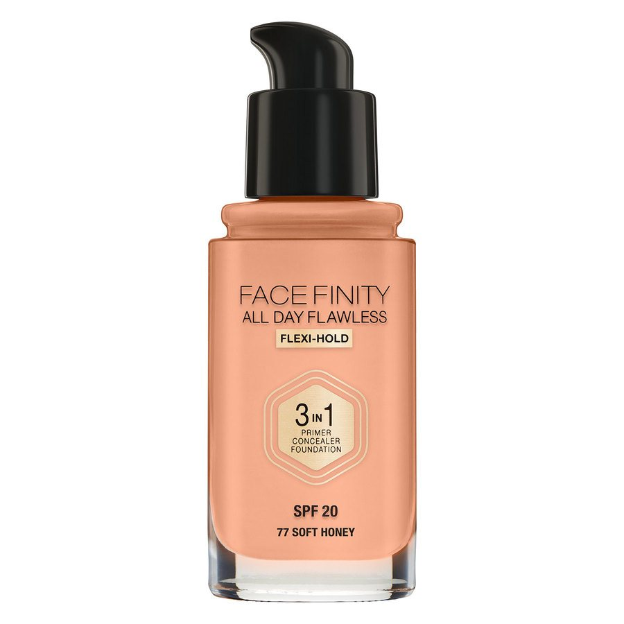 Max Factor Facefinity All Day Flawless 3 in 1 Foundation 30 ml – 77 Soft Honey