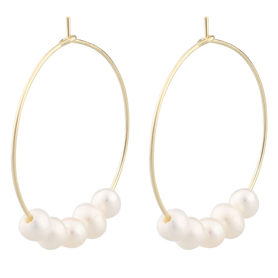 SNÖ of Sweden Penny Round Earring - Gold/White