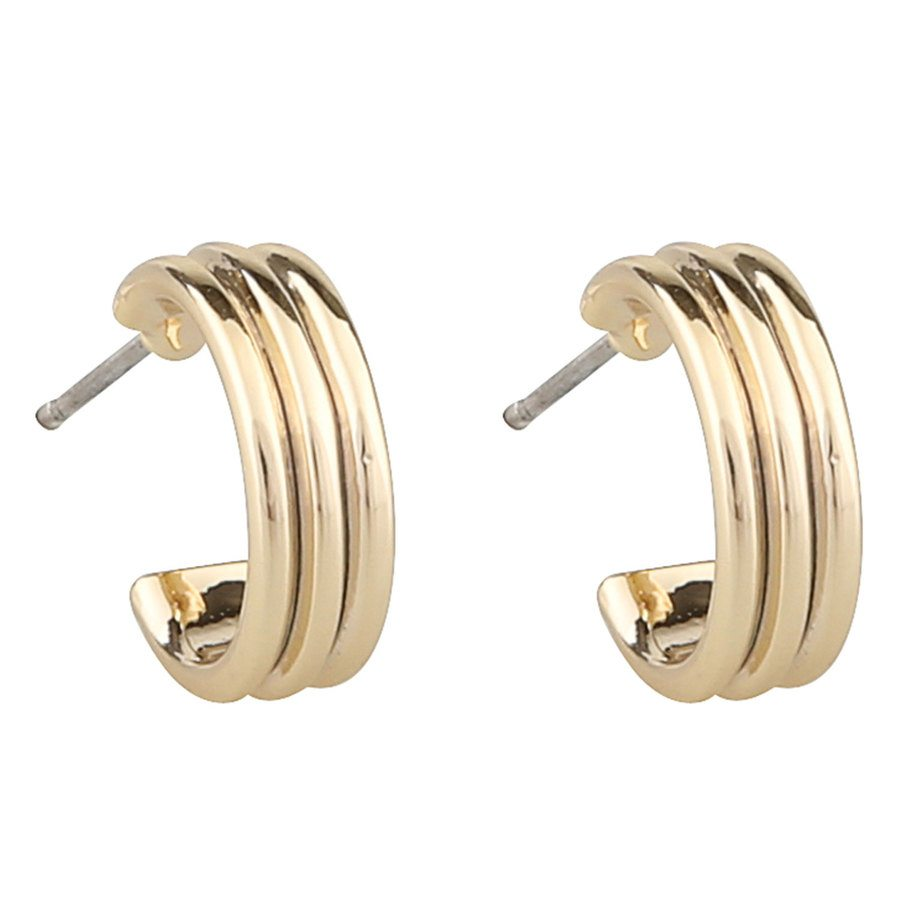 SNÖ of Sweden Helena Small Oval Earring – Plain Gold
