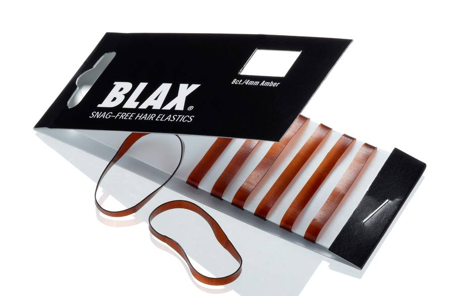 Blax Snag-Free Hair Elastics 4 mm 8pcs – Amber