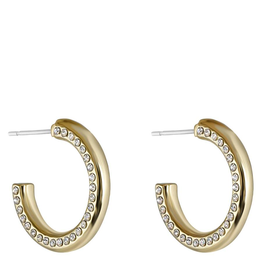 Snö Of Sweden Adara Small Oval Earring – Gold/Clear