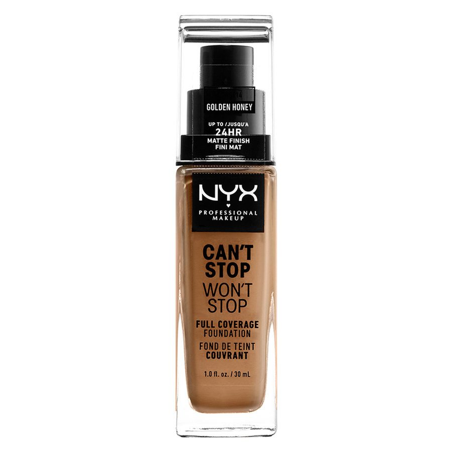 NYX Professional Makeup Can't Stop Won't Stop Full Coverage Foundation Golden Honey 30ml