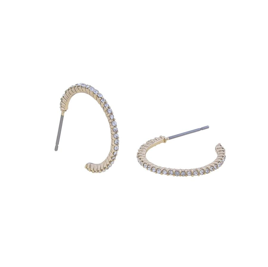 Snö Of Sweden Lily Oval Earring - Gold/Clear