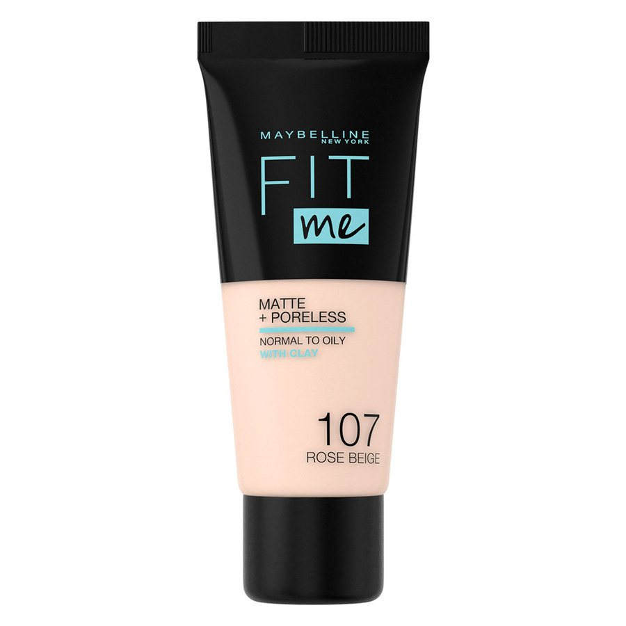 Maybelline Fit Me Matte + Poreless Foundation Rose Beige #107 30ml