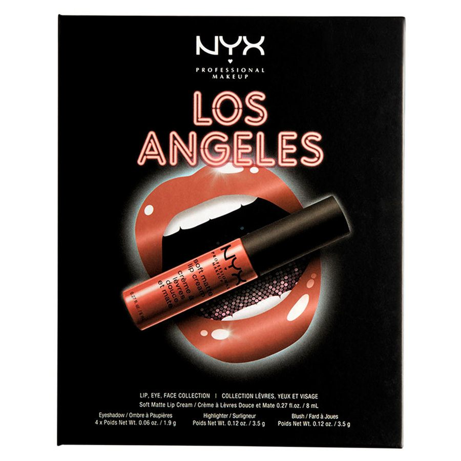 NYX Professional Makeup City Set Lip, Eye & Face Collection - Los Angeles