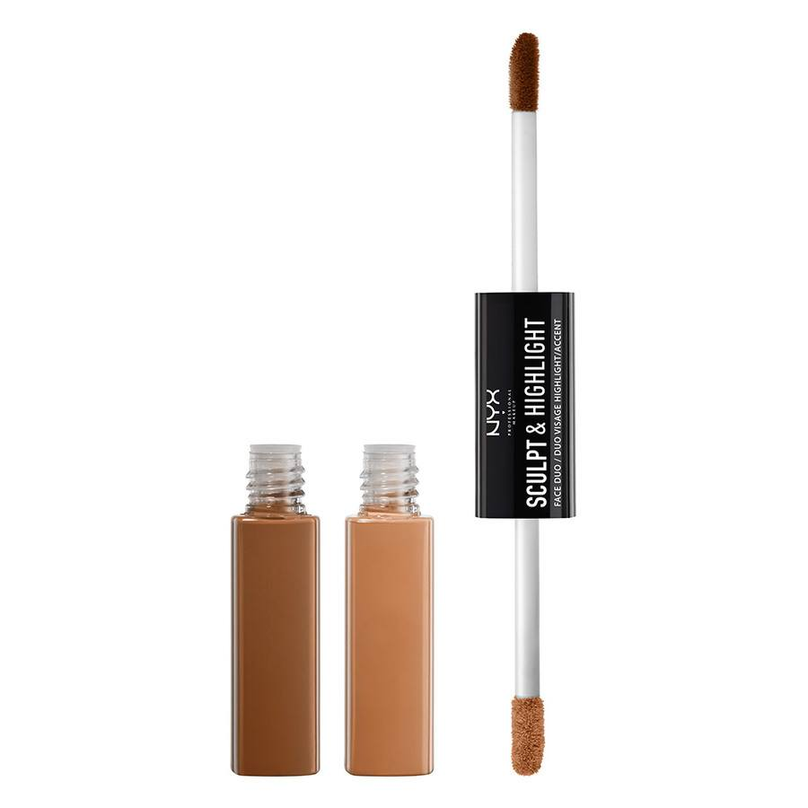 NYX Prof. Makeup Sculpt & Highlight Face Duo – Chestnut/Sand 5,3ml