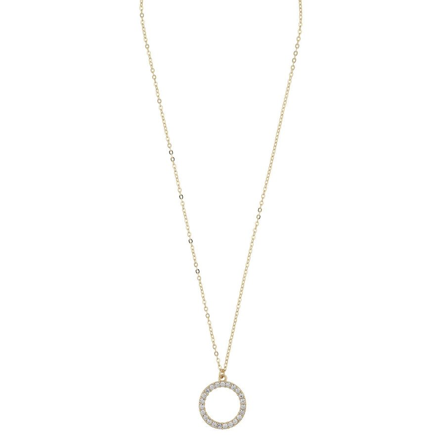 SNÖ Of Sweden Josephine Pendant Necklace 42 cm – Gold/Clear
