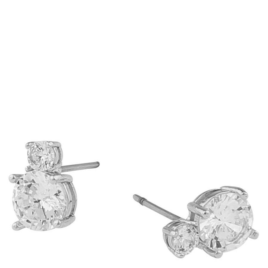 Snö Of Sweden Duo Earring Silver/Clear