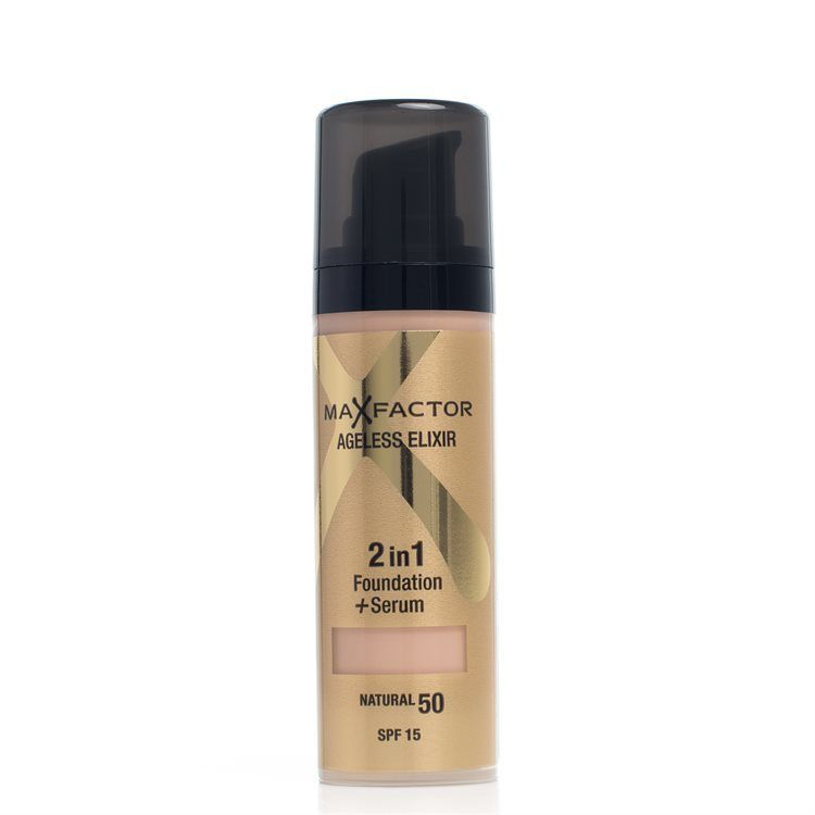Max Factor Ageless Elixir 2-In-1 Foundation + Serum SPF15 – 50 Natural