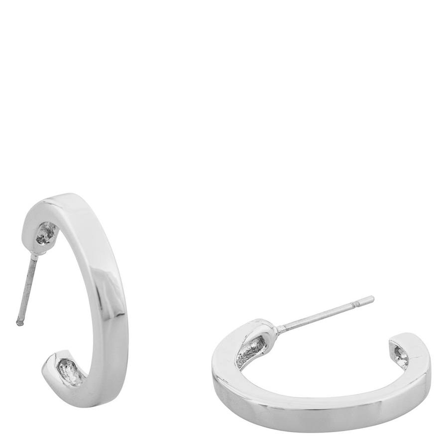 Snö Of Sweden Vertical Oval Earring – Plain Silver