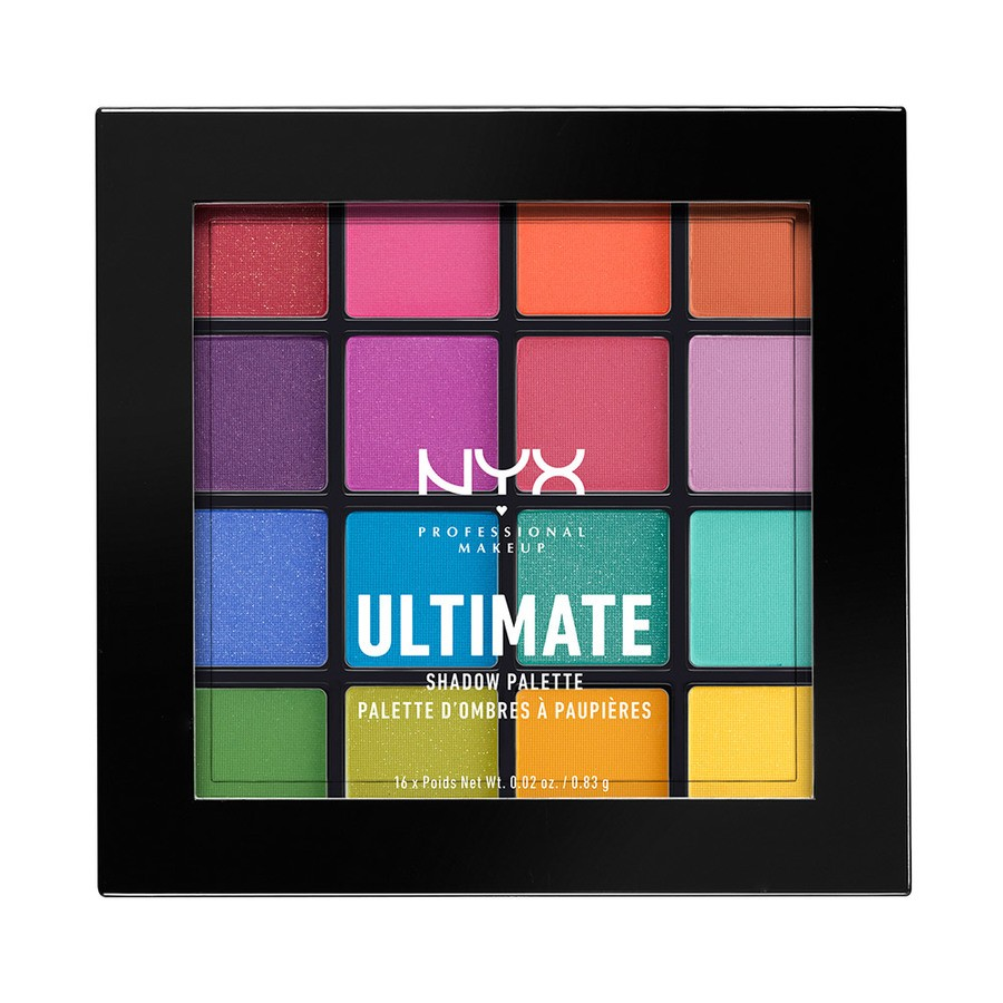 NYX Professional Makeup Ultimate Eyeshadow Palette – Brights USP04 13,3g
