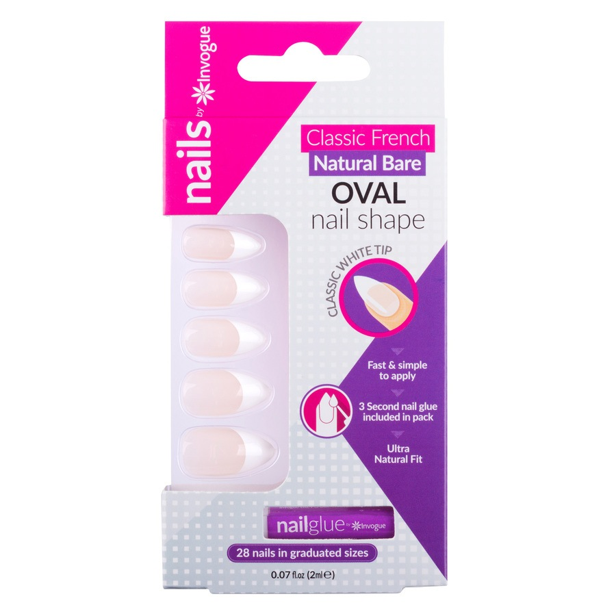 Invogue French Nails - Bare Oval