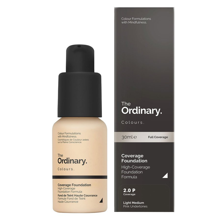 The Ordinary Coverage Foundation 30ml - 2.0 P Light Medium Pink