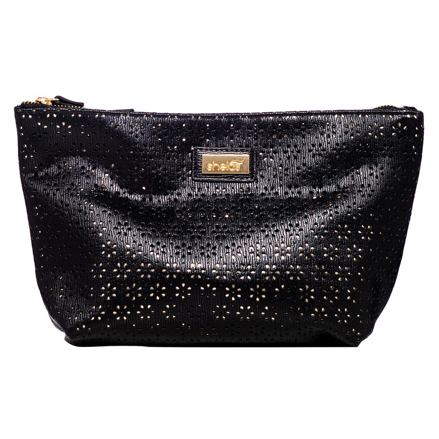 Shelas Toiletry Bag Medium Black/Gold
