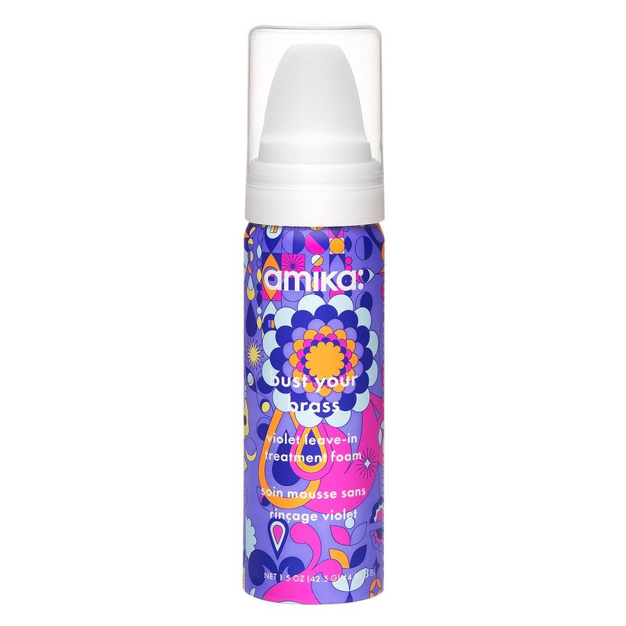 Amika Bust Your Brass Violet Leave-In Treatment Foam 44 ml