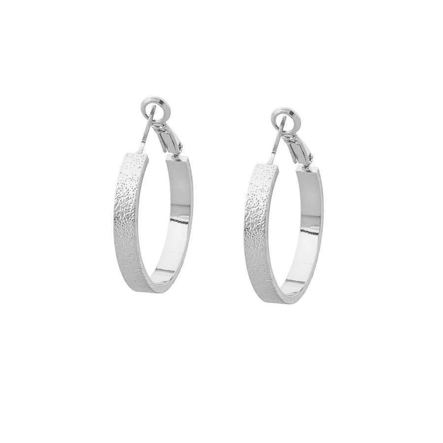 Snö of Sweden Lynx Small Ring Earring - Plain Silver