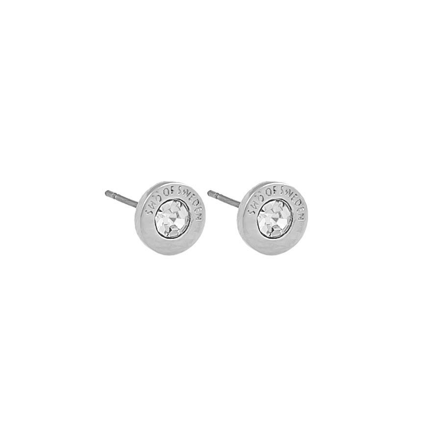 Snö Of Sweden Sence Small Coin Earring - Silver/Clear