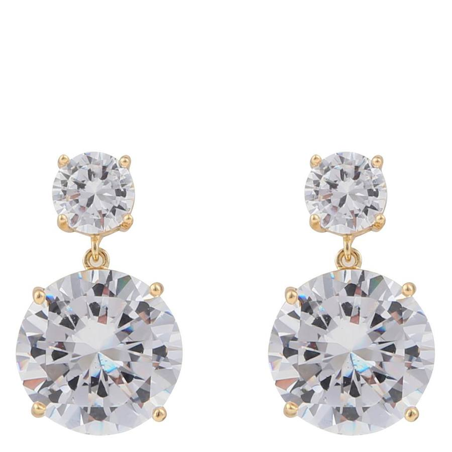 Snö Of Sweden Duo Pendant Earring – Gold/Clear