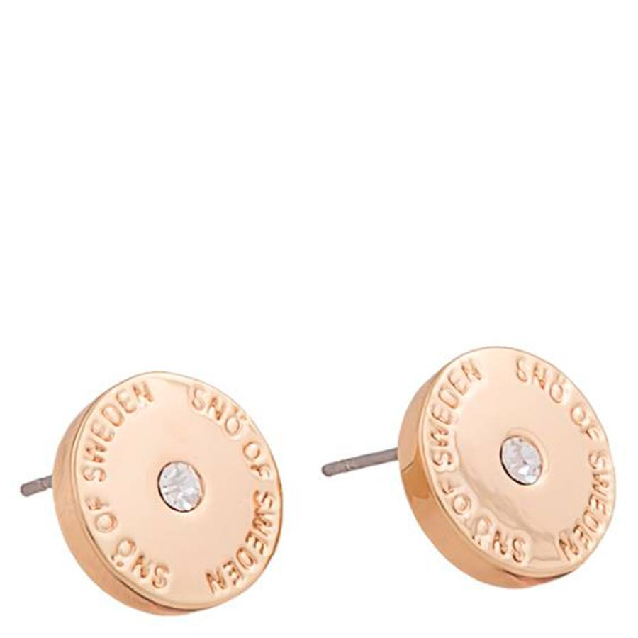Snö Of Sweden Harly Small Earring 10 mm Rosé/Clear