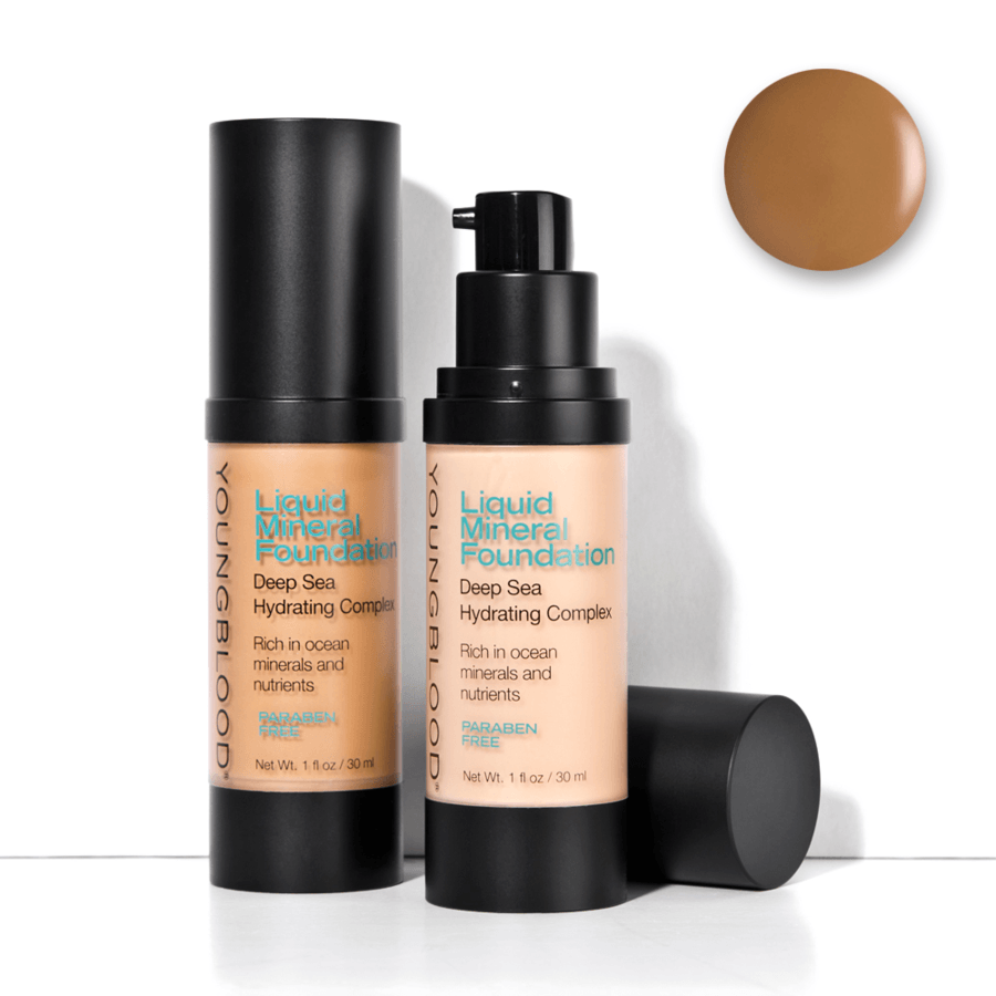 Youngblood Liquid Mineral Foundation –  Suntan 30 ml