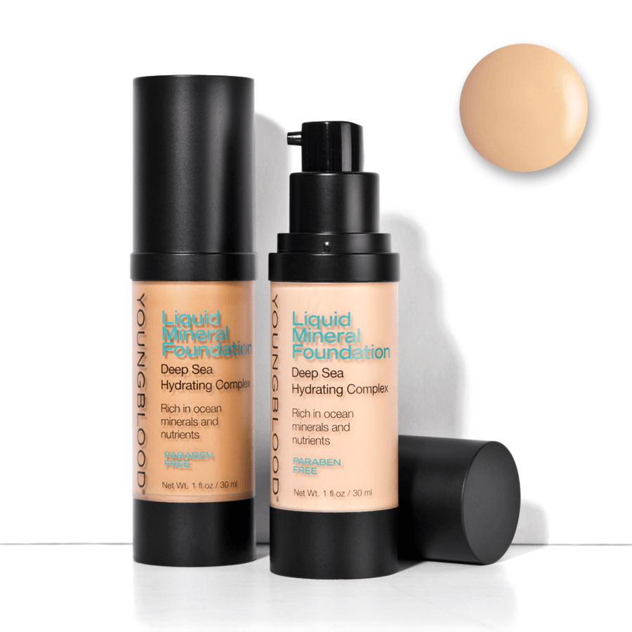 Youngblood Liquid Mineral Foundation – Pebble 30ml