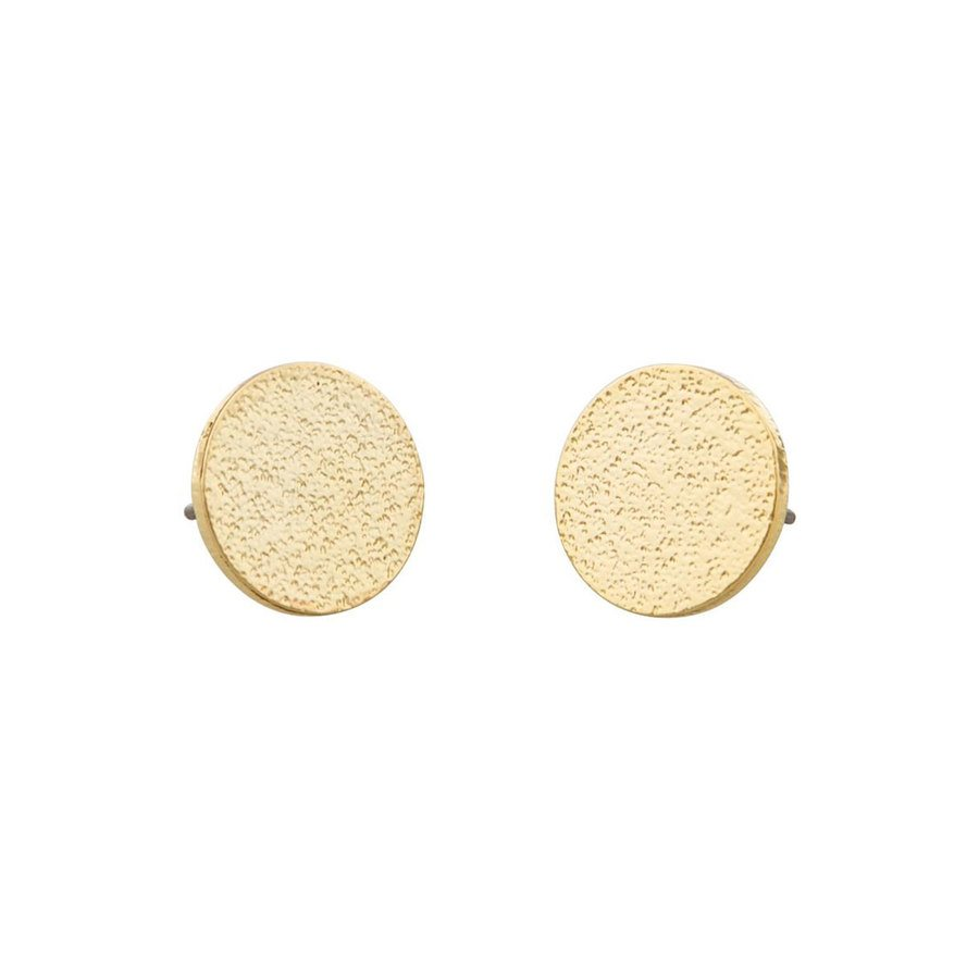 Snö of Sweden Lynx Small Coin Earring – Plain Gold