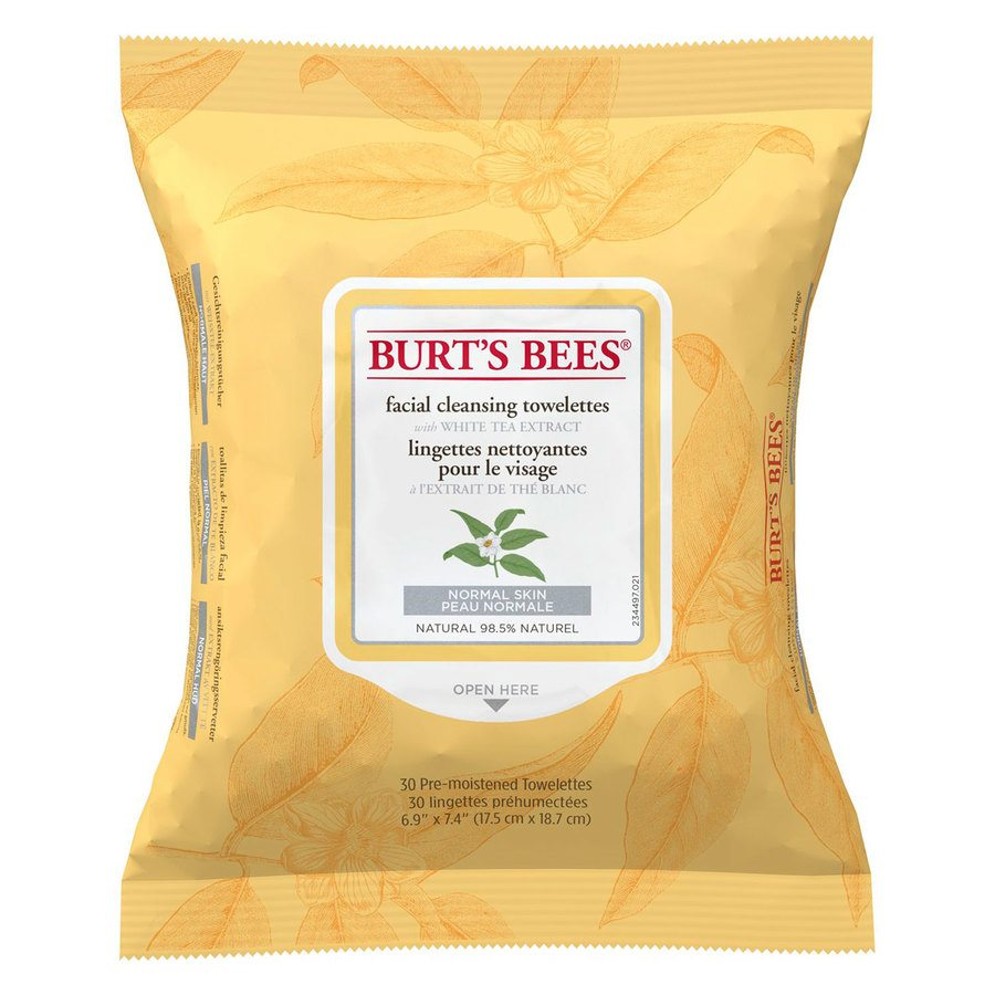 Burt's Bees Facial Cleans Towelettes White Tea Extract 30 kpl
