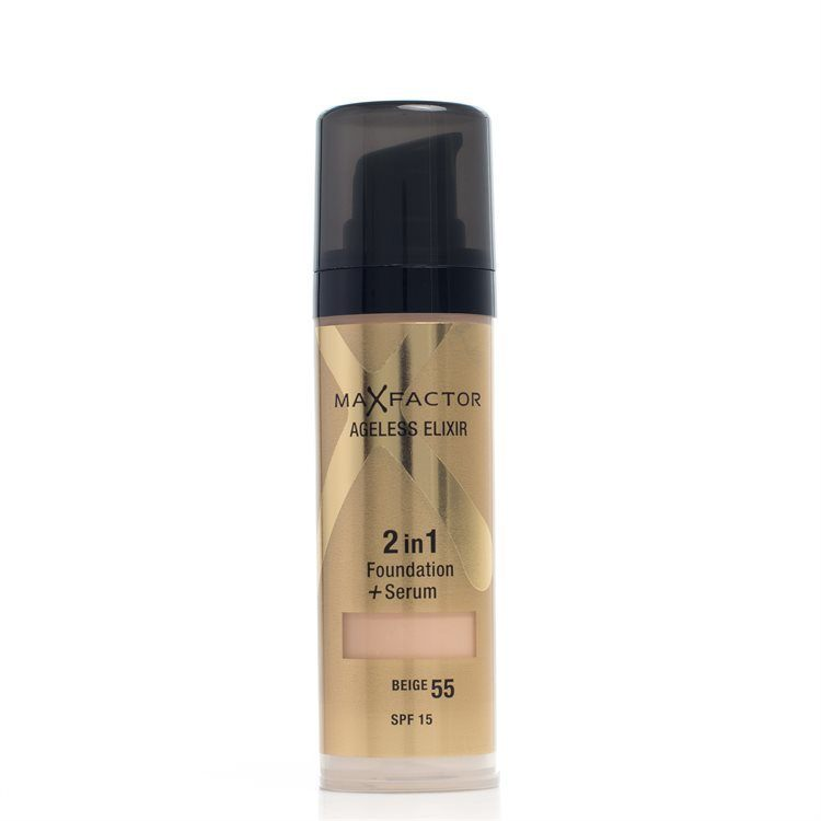 Max Factor Ageless Elixir 2-In-1 Foundation + Serum SPF15 – 55 Beige