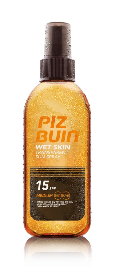 Piz Buin Wet Skin Transparent Spray SPF 15 150 ml
