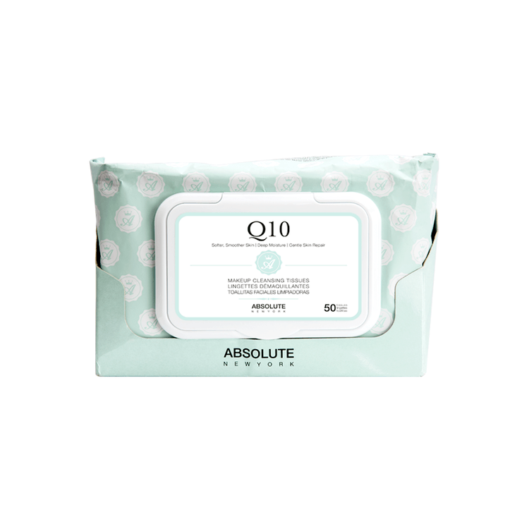 Absolute New York Make-Up Cleansing Tissues Q10 50 kpl